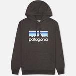 Мужская толстовка Patagonia Line Logo Midweight Black фото- 0