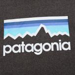 Мужская толстовка Patagonia Line Logo Midweight Black фото- 2