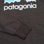 Мужская толстовка Patagonia Line Logo Midweight Black фото- 3