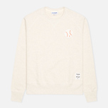 Reebok x Maison Kitsune Baseball Crew Men's Sweatshirt CWhite photo- 0