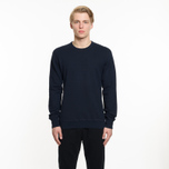 Мужская толстовка Reigning Champ Crew Neck Midweight Twill Terry Navy фото- 5