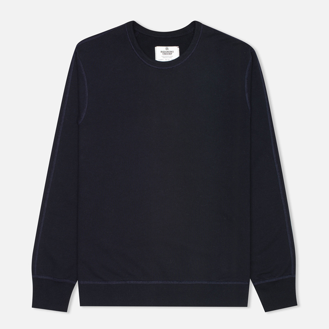 Мужская толстовка Reigning Champ Crew Neck Midweight Twill Terry Navy