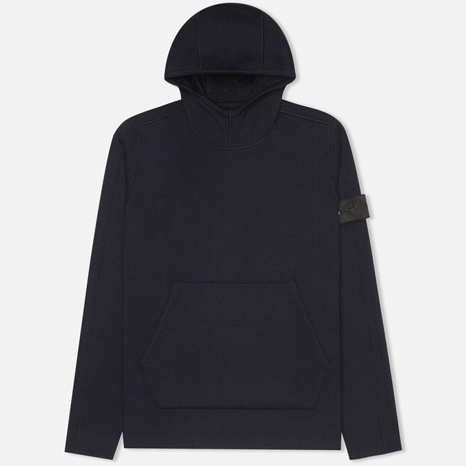 Мужская толстовка Stone Island Shadow Project Double Face Navy Blue