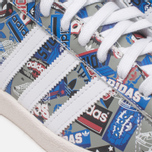 Кроссовки adidas Originals by NIGO Superstar 80s Pioneers Grey/White фото- 7