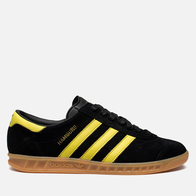 Мужские кроссовки adidas Originals Hamburg Black/Lemon Peel