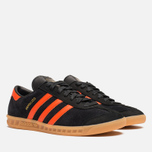 Кроссовки adidas Originals Hamburg Black/Orange фото- 1