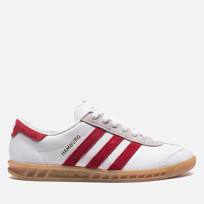 Мужские кроссовки adidas Originals Hamburg Running White/Union Red