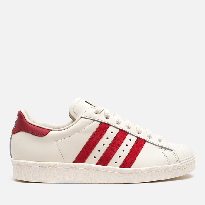 Мужские кроссовки adidas Originals Superstar 80s Deluxe Vintage White/Scarlet