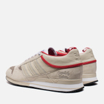 Мужские кроссовки adidas Originals & The Heartbreakers ZX 500 Mid Run White/Color Red фото- 2