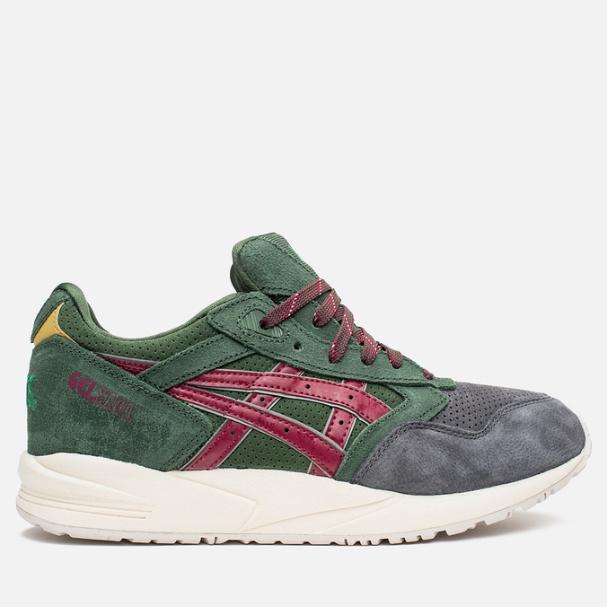 Кроссовки ASICS Gel-Saga Christmas Pack Dark Green/Burgundy