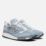 Мужские кроссовки New Balance M998LL Sky Blue/White фото- 1