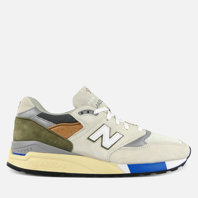 New Balance M998TN2 x Concepts C-note Sneakers Natural/Olive/White