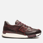 Мужские кроссовки New Balance M998WD Horween Leather Burgundy фото- 0