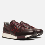 Мужские кроссовки New Balance M998WD Horween Leather Burgundy фото- 1