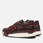 Мужские кроссовки New Balance M998WD Horween Leather Burgundy фото- 2