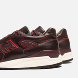 Мужские кроссовки New Balance M998WD Horween Leather Burgundy фото- 6