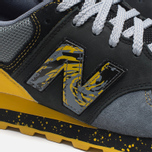 Мужские кроссовки New Balance x Shelflife x Dr. Z x 574 Сity of Gold Charcoal/Gold фото- 7