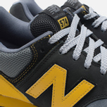Мужские кроссовки New Balance x Shelflife x Dr. Z x 574 Сity of Gold Charcoal/Gold фото- 11