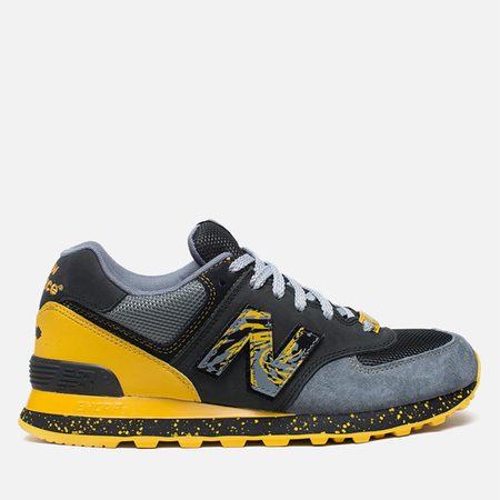 Мужские кроссовки New Balance x Shelflife x Dr. Z x 574 Сity of Gold Charcoal/Gold
