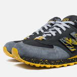 Мужские кроссовки New Balance x Shelflife x Dr. Z x 574 Сity of Gold Charcoal/Gold фото- 5