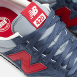 Кроссовки New Balance U420PRBR Navy/Red фото- 6
