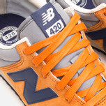 Кроссовки New Balance U420PROB Orange/Navy фото- 6