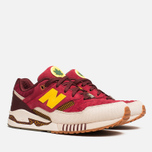 Мужские кроссовки New Balance x Ronnie Fieg M530KH Central Park Sneakers Burgundy/Yellow фото- 1