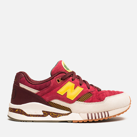 New Balance x Ronnie Fieg M530KH Central Park Sneakers Burgundy/Yellow