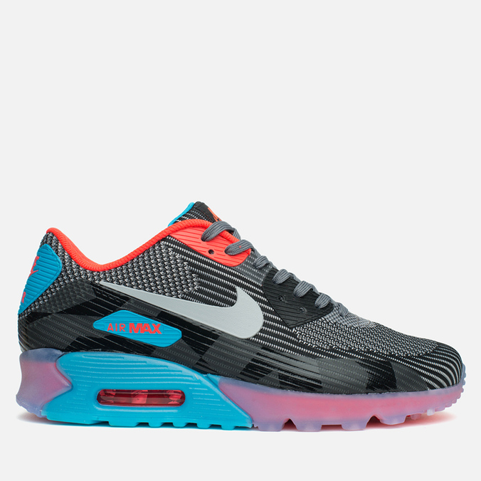 Мужские кроссовки Nike Air Max 90 Jacquard Ice QS Dark Grey/Black/Blue