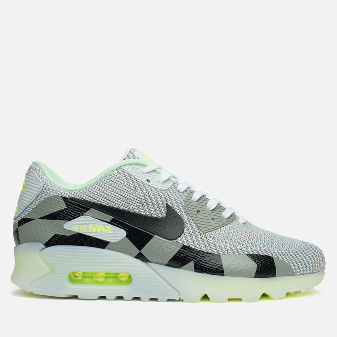 Мужские кроссовки Nike Air Max 90 Jacquard Ice QS White/Black/Grey