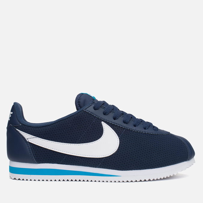 Мужские кроссовки Nike Classic Cortez Leather Midnight Navy/White/Blue