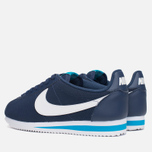 Мужские кроссовки Nike Classic Cortez Leather Midnight Navy/White/Blue фото- 2