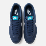 Мужские кроссовки Nike Classic Cortez Leather Midnight Navy/White/Blue фото- 4