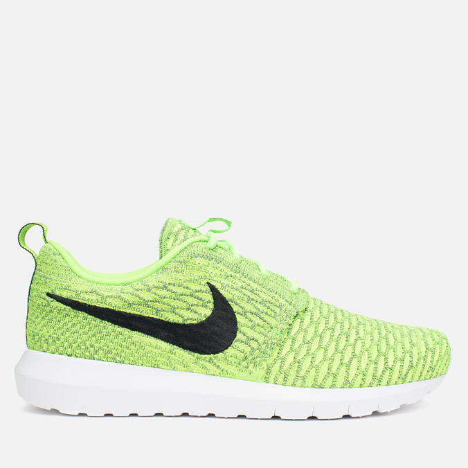 Мужские кроссовки Nike Flyknit Rosherun Volt/Black/Electric Green