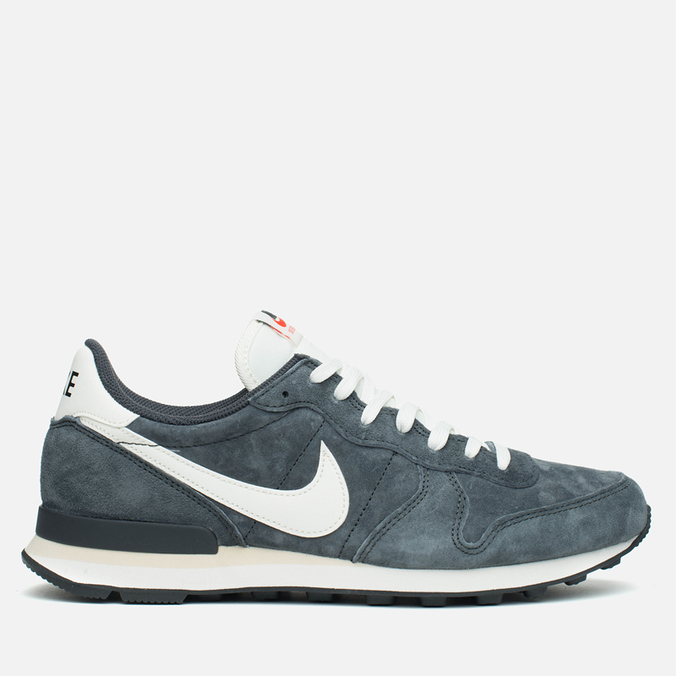Мужские кроссовки Nike Internationalist Pigskin Leather Anthracite/Black