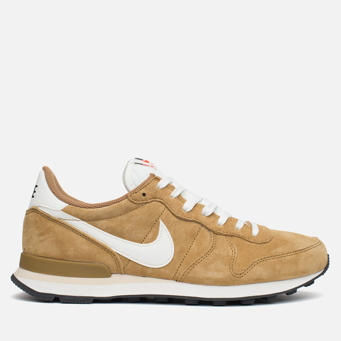 Nike Internationalist Pigskin Leather Sneakers Golden Tan/Sail
