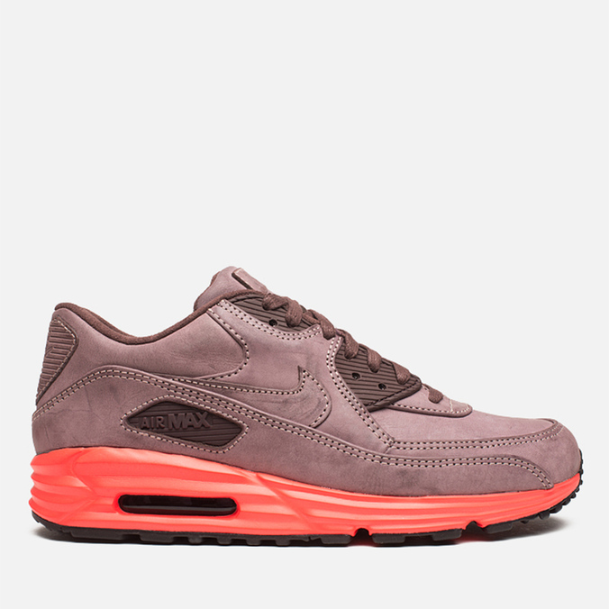 Мужские кроссовки Nike Lunar Air Max 90 QS Mahogany/PBL Red