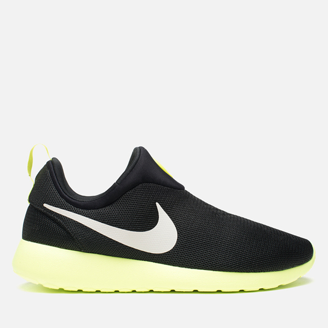 Мужские кроссовки Nike Rosherun Slip On Black/White Volt