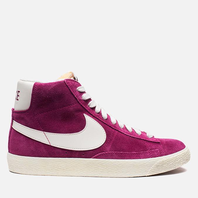 Женские кроссовки Nike Blazer Mid Suede Vntg Bright Magenta