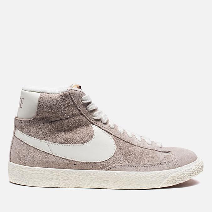 Женские кроссовки Nike Blazer Mid Suede Vntg Grey/White