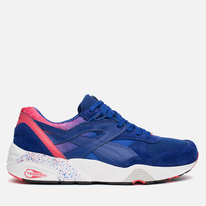 Мужские кроссовки Puma R698 Splatter Mazarine Blue/Teaberry Red