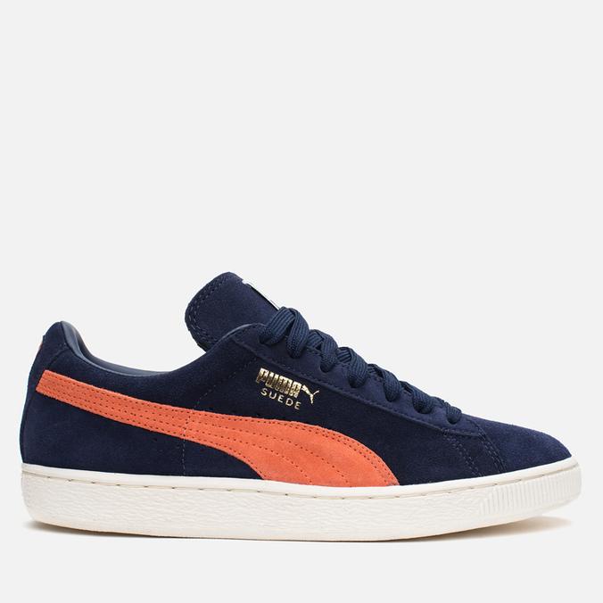 Мужские кроссовки Puma Suede Classic + Peacoat/Nasturtium