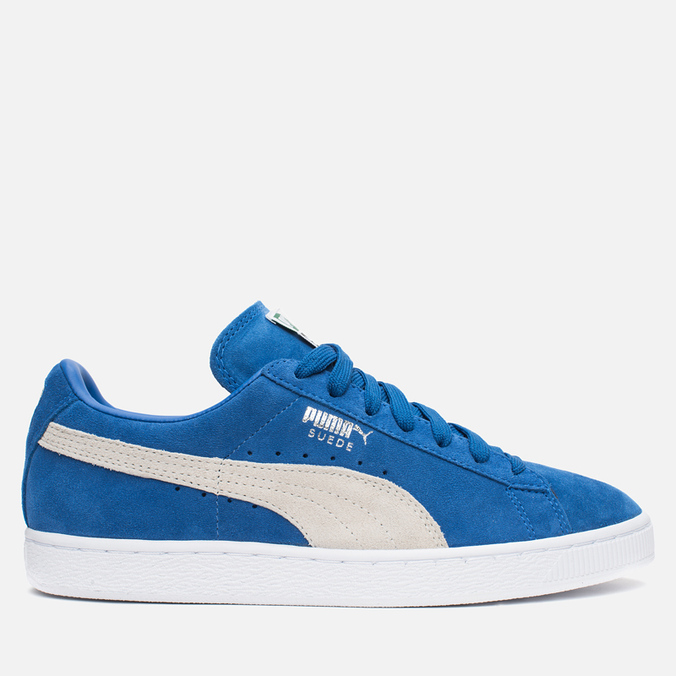 Кроссовки Puma Suede Classic + Strong Blue/White