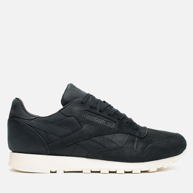 Мужские кроссовки Reebok Classic Leather Lux Black/Olympic Creme/Gold