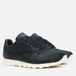 Мужские кроссовки Reebok Classic Leather Lux Black/Olympic Creme/Gold фото- 1