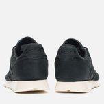 Мужские кроссовки Reebok Classic Leather Lux Black/Olympic Creme/Gold фото- 3