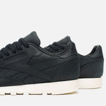 Мужские кроссовки Reebok Classic Leather Lux Black/Olympic Creme/Gold фото- 5