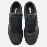 Мужские кроссовки Reebok Classic Leather Lux Black/Olympic Creme/Gold фото- 4