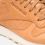 Мужские кроссовки Reebok Classic Leather Lux Horween Natural/Moon White/Black фото- 7