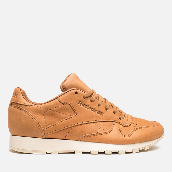 Мужские кроссовки Reebok Classic Leather Lux Horween Natural/Moon White/Black